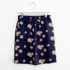 Boden Penelope Navy Floral Skirt